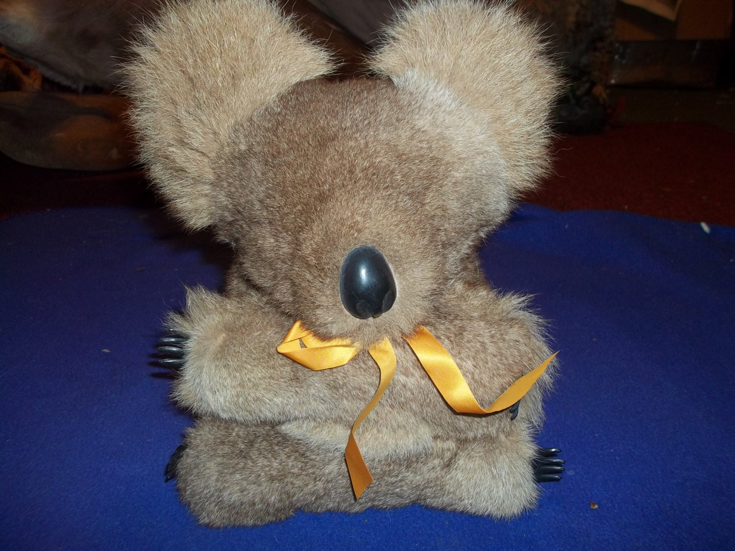 koala bear toy Real Kangaroo hide animal genuine leather fur