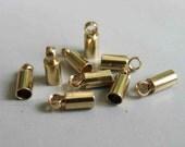 200pcs Raw Brass Cap For Tassel, Findings 8mm x 3mm - F150