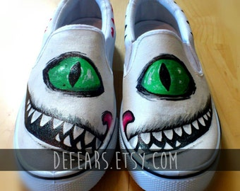 Cheshire Cat - Hand Painted Pumps