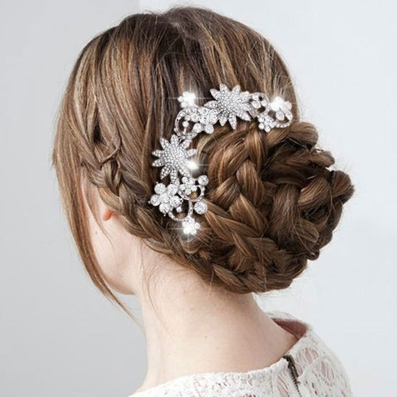 Victorian Style Wedding Hair: Items Similar To Victorian Style Swarovski Crystal Hair