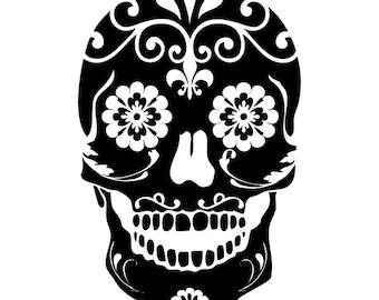 Sugar Skull Vinyl Sticker