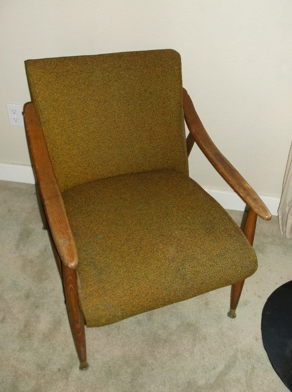 Vintage Danish modern upholstered lounge chair by VintageSpecialty