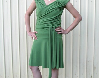 Margerita Nursing Dress In Olive Green