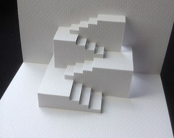 Pop Up Steps Greeting Card