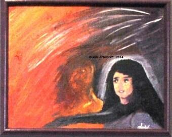 Guardian - Original Acrylic Painting - Framed