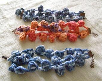 Crochet bracelet or anklet with bells