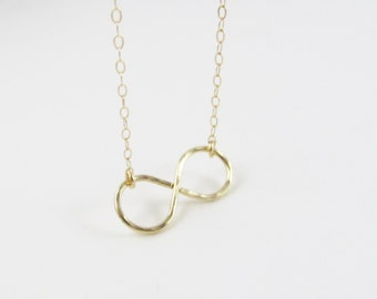 Infinity Necklace, 14kt Gold Filled Necklace Gift for Her