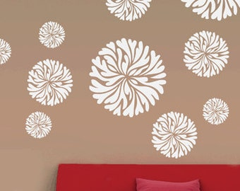 Easy way decorative flower stencil, FS-16, Reusable DIY wall decor