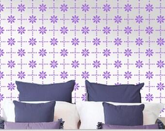 Flower wall stencils, Easy decorative DIY wall stencil, Flower stencil