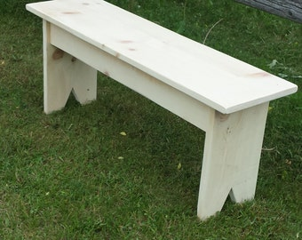 Pine Bench  / Unfinished Wood Bench / DIY Bench