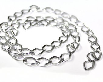 3 YARDS of Silver Shiny Chains Links Trim 0.4 ''