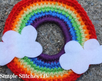 Rainbow Crochet Camera Lens Buddy