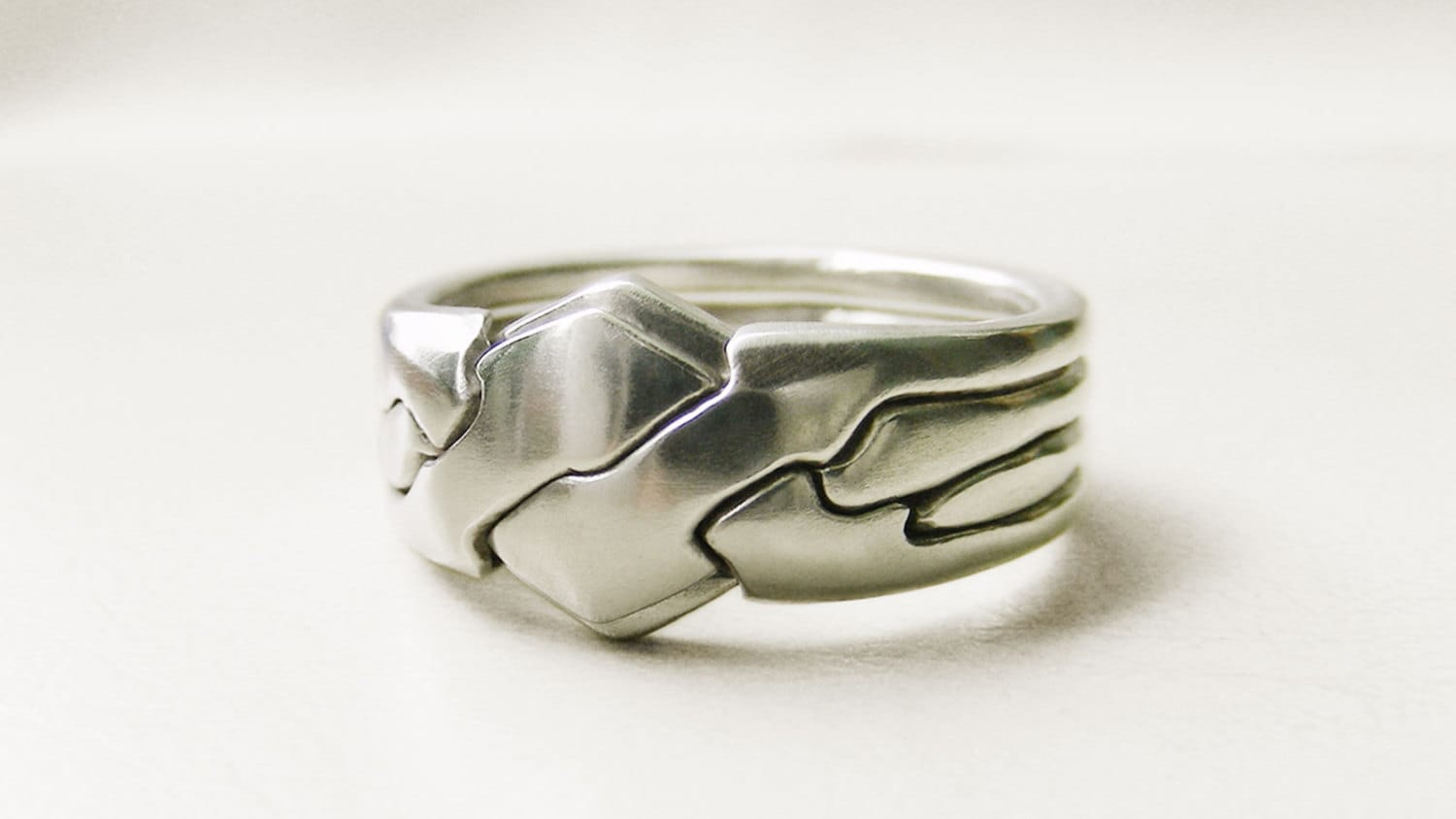 piggyback unique puzzle rings by puzzleringmaker sterling