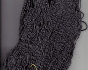 Hand Dyed Charcoal Grey Fairyhare yarn- fingering weight, 270 yds. 30/70% Angora and Merino