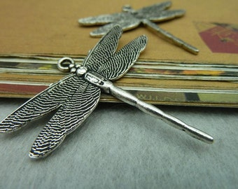 10pcs 43x46mm Antique Silver Dragonfly Charms Pendants Jewelry Findings AC5550