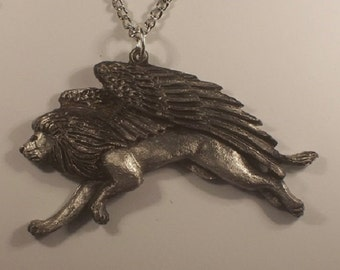 New  Design.....Majestic Winged  guardian....Pendent