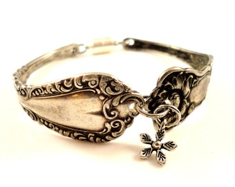 bracelet clé plate items similar to betty lou vintage spoon bracelet 6471