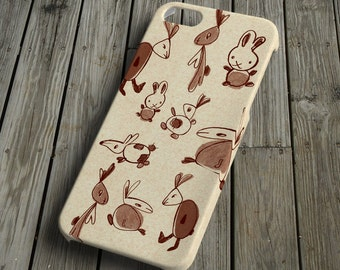 Rabbits - beige - iPhone 5 Case - iPhone 5 Cover - Plastic iPhone 5 Case