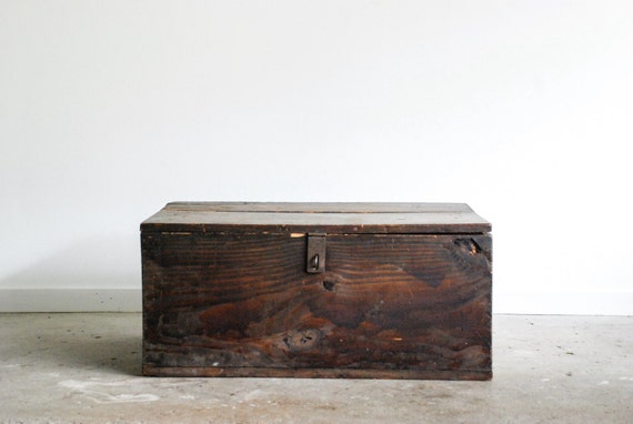 Wooden Trunk Antique Trunk Wood Trunk Military Chest Large