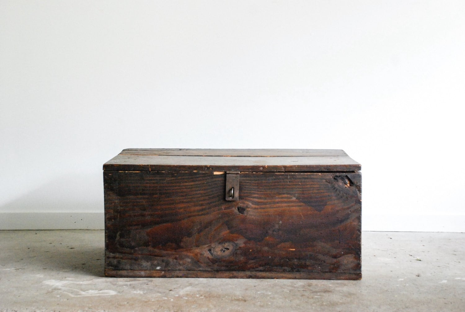 Wooden trunk antique trunk wood trunk military chest by littlecows