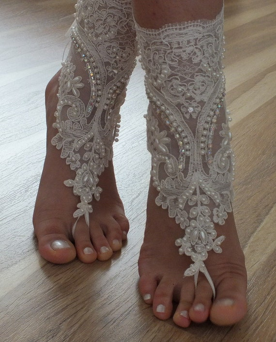 Items Similar To Beach Shoes FREE SHIP Unique Design Bridal Sandals Lariat Sandals Wedding
