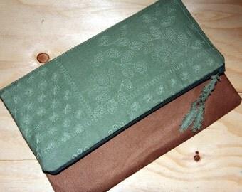 iPad mini Case,7 inch Tablet Sleeve, Cotton Suede Zipper Bag, Makeup Pouch,Clutch Handmade,Bag, Clutch Purse