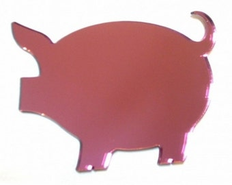 Pink Pig Mirror - 5 Sizes Available. Also available in Packs of 10 Little Pink Piglets for crafting and decorative use
