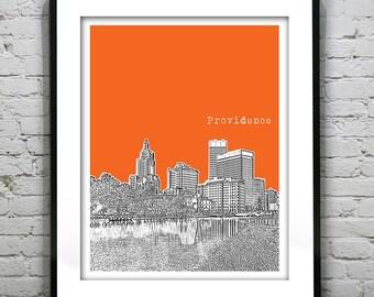 Providence Poster Rhode Island Skyline Art Print RI