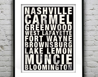 Subway Sign Poster Art Print Your Custom Cities, Districts and Places