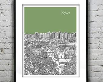 Kiev Kyiv Skyline Poster Art Print Ukraine