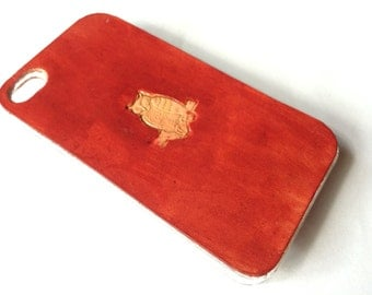 Leather iPhone 4s Case / Leather iPhone 4 Case - The Lodgepole Case - Owl