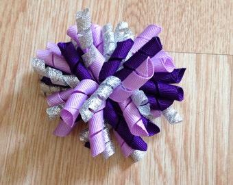 Purple Korker Hair Bow
