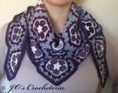 Crochet Pattern - African Flower Scarf