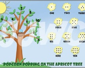 POPCORN POPPING Children's File Folder Game - Downloadable PDF Only