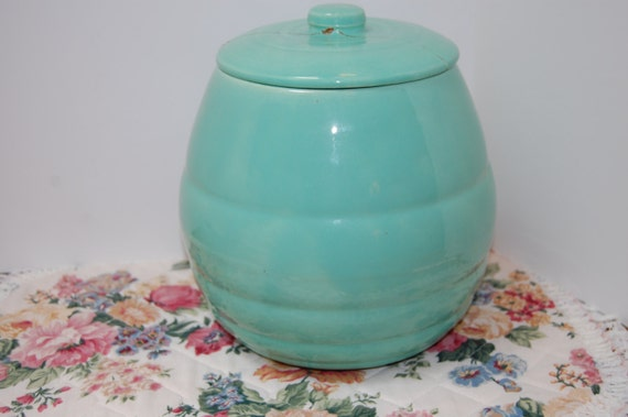 Antique pottery beehive cookie jar bauer company repaired - Beehive cookie jar ...