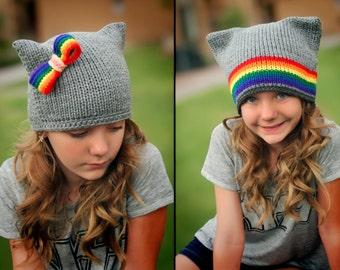 Nyan Cat Rainbow Beanie