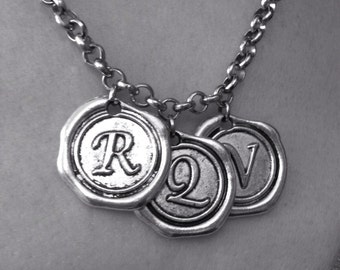 Wax Stamp Charm Necklace