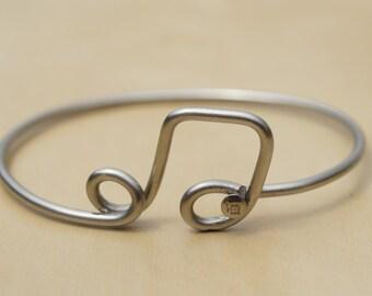 Silver 8th Note Bicycle Spoke Bracelet