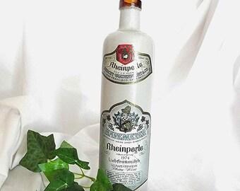 Vintage Wine Bottle German Bar Decor Havemeyer Rheinperle Liebfraumilch Rhine Wine Bottle German Collectible Bottle Hercut Vandervoort
