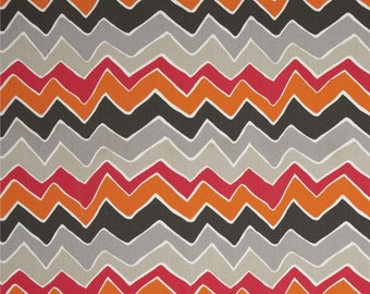 Fabric by the Yard ZigZag Chevron Twill Seesaw Sherbert Premier Prints