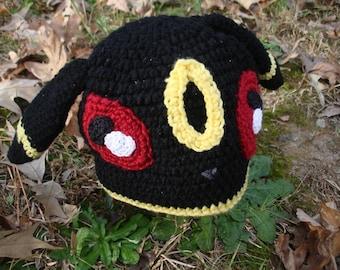 Umbreon Inspired Crocheted Hat