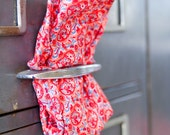 Orange/Red/Blue Floral Cotton Pocket Square by Put This On S14