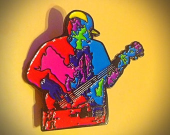 PL - Derek Vincent Smith - Color Map of the Bass Slap Hat Pin