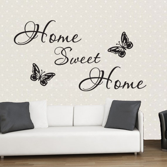 Home Sweet Home Inspirational Quote Wall Art Quote Vinyl: home sweet home wall decor