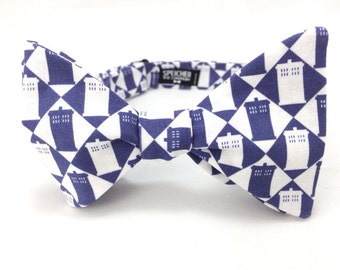 Doctor Who TARDIS Blue Checker Bow Tie - bowties, bowtie, bow ties, dr who, the doctor, geek, geeky chic, comic con, fun, cool, awesome
