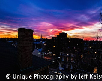 Landscape Photorgaphy- Sunset Photography-City Photography-Fine Art Photography- 8x12 Print