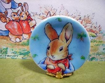 Peter Rabbit Miniature Plate 1:12 scale