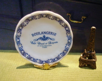 Boulangerie French Style  Miniature Plate 1:12 scale