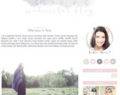 Watercolor Feminine Blogger Template - Blogger Theme - Blogspot Template - Fashion Lifestyle Photographer