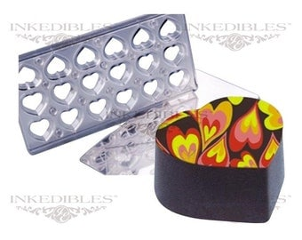 Inkedibles Standard Size (11 inch x 5 inch) Magnetic Chocolate Mold (design 530-003, for use with transfer sheets)